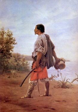 El Baqueano  año 1875, óleo de Juan Manuel Blanes
