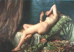 Demonio, mundo y carne, año 1886, óleo de Juan Manuel Blanes.