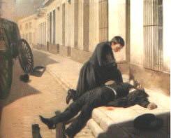 La muerte del General Venancio Flores, año 1868, óleo de Juan Manuel Blanes